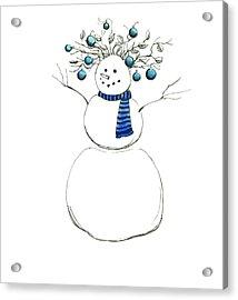 Snow Attire Acrylic Print by Katherine Miller
