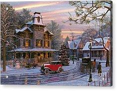Snow Streets Acrylic Print by Dominic Davison
