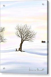 Snow Acrylic Print by Veronica Minozzi