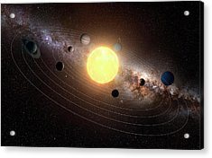 Solar System, Artwork Acrylic Print