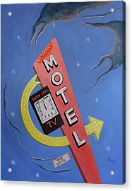 Acrylic Print featuring the painting South City Motel by Sally Banfill