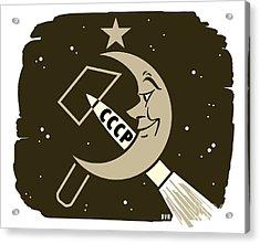 Soviet Moon Exploration, Artwork Acrylic Print