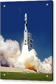 Space Launch System Launch Acrylic Print