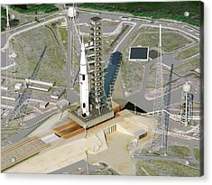 Space Launch System Acrylic Print