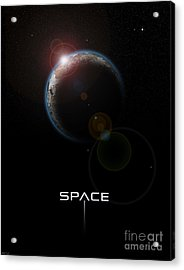 Space Acrylic Print by Phil Perkins