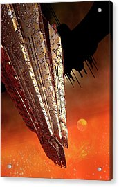 Space Station Acrylic Print by Victor Habbick Visions