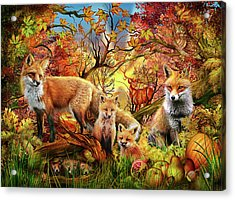 Acrylic Print featuring the drawing Spirit Of Autumn by Ciro Marchetti