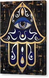 Spirit Of The Hamsa Acrylic Print by Allison Liffman