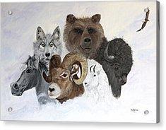 Spirit Totems Acrylic Print by Judy M Watts-Rohanna