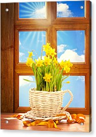 Spring Window Acrylic Print by Amanda Elwell