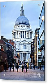 St. Paul's Cathedral London At Dusk Acrylic Print