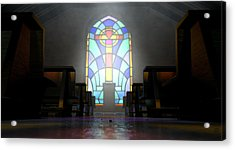 Stained Glass Window Church Acrylic Print