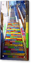 Stairway To Heaven Valparaiso  Chile Acrylic Print
