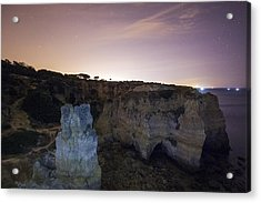 Starry Sky At Praia Do Castelo Acrylic Print by Andre Goncalves