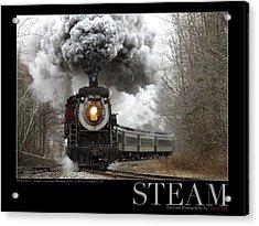 Steam At Elmhurst Acrylic Print by Daniel Troy