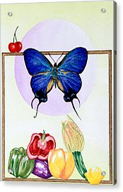 Still Life With Moth #2 Acrylic Print