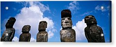 Stone Heads, Easter Islands, Chile Acrylic Print