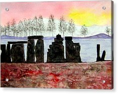 Stonehenge Acrylic Print by Roy Hyslop