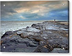 Storm Blowing Out Acrylic Print