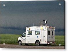 Storm Chasing, Nebraska, Usa Acrylic Print by Science Photo Library