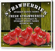 Strawberry Farm Acrylic Print by Marvin Blaine