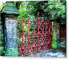 Strawberry Field Gates Acrylic Print