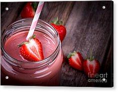 Strawberry Smoothie Acrylic Print by Jane Rix