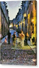 Street Of Knights Acrylic Print by George Atsametakis