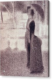 Study For Sunday Afternoon On The Island Of La Grande Jatte Acrylic Print by Georges Pierre Seurat