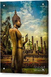 Sukhothai Buddha Acrylic Print by Adrian Evans
