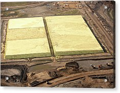 Sulphur Extracted From Tar Sands Acrylic Print by Ashley Cooper