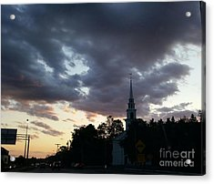 Acrylic Print featuring the photograph Sun Down Time by Rose Wang