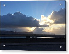 Sunbeams Over Conwy Acrylic Print by Christopher Rowlands