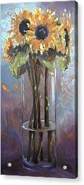 Sunflower Bouquet Acrylic Print by Donna Tuten