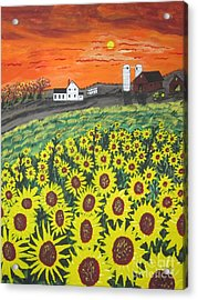 Sunflower Valley Farm Acrylic Print