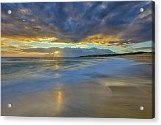 Sunrise Above Kawaaloa Bay On Molokais Acrylic Print