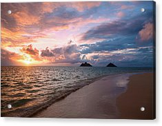 Sunrise At Lanikai Beach  Kailua Acrylic Print