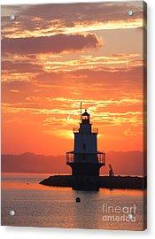Sunrise At Spring Point Lighthouse Acrylic Print