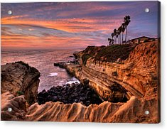 Sunset Cliffs Acrylic Print by Peter Tellone