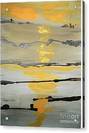 Acrylic Print featuring the painting Sunset by Fereshteh Stoecklein