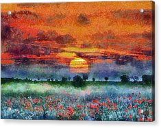 Acrylic Print featuring the painting Sunset by Georgi Dimitrov