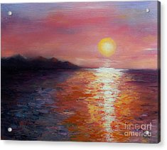Sunset In Ixtapa Acrylic Print by Marlene Book