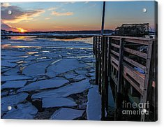 Sunset In Pine Point Acrylic Print