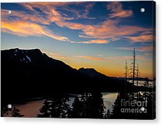 Sunset On Angora Ridge Acrylic Print