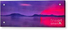 Sunset On Balaton Lake Acrylic Print