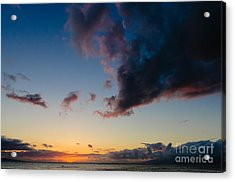 Sunset On Kaanapali Maui Hawaii Usa Acrylic Print