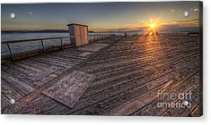 Sunset Over Puget Sound Acrylic Print by Twenty Two North Photography