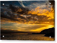Sunset Over The Ocean  Acrylic Print