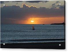 Sunset Sail Acrylic Print