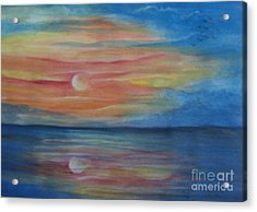 Sunset Acrylic Print by Usha Rai